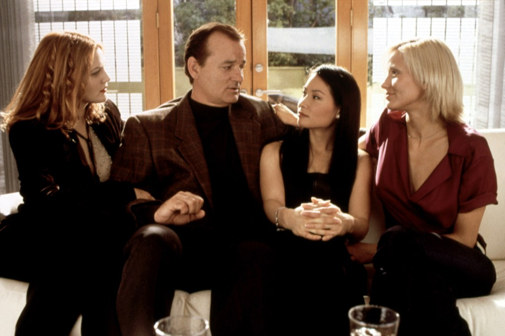 """Drew Barrymore, Bill Murray, Lucy Liu and Cameron Diaz in 2000's """"Charlie's Angels."""""""