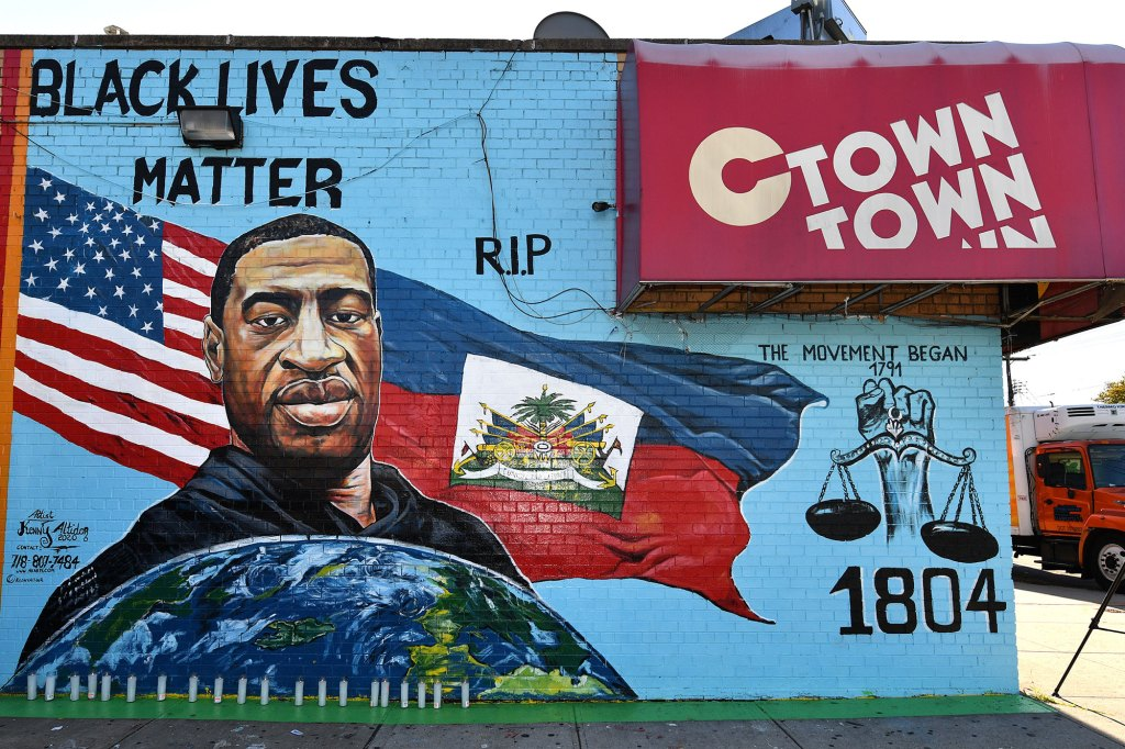 George Floyd mural in Canarsie, Brooklyn