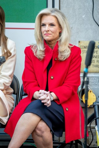 """Janice Dean attends the """"Fox & Friends"""" naturalization ceremony for Veterans Day at Fox News Channel Studios on November 11, 2019 in New York City."""