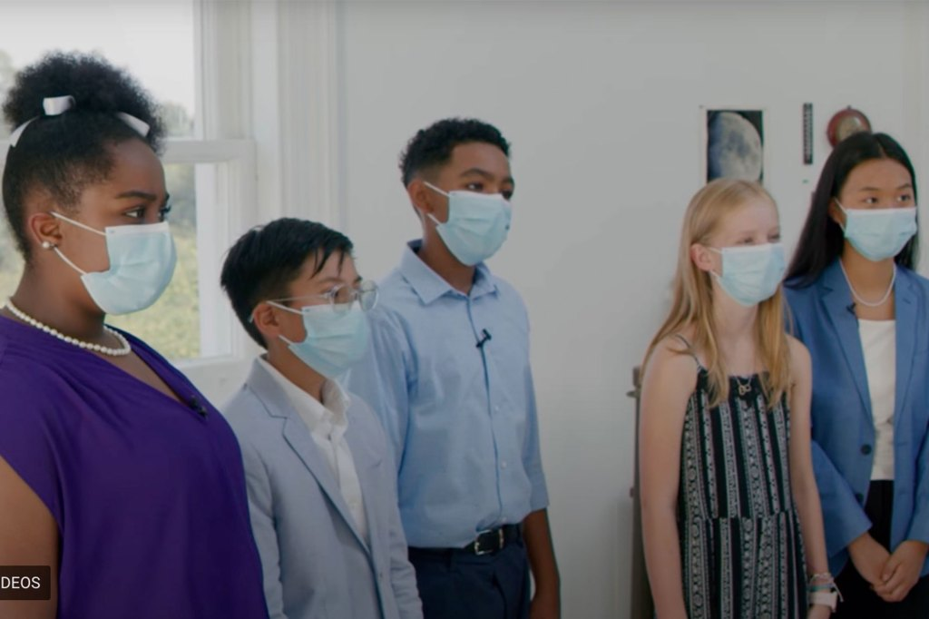 Some of the child actors in the video.