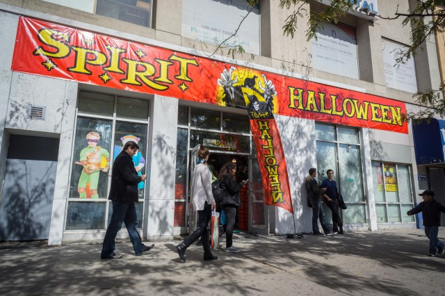 The controversial costume is sold by Halloween accessory giant Spirit Halloween