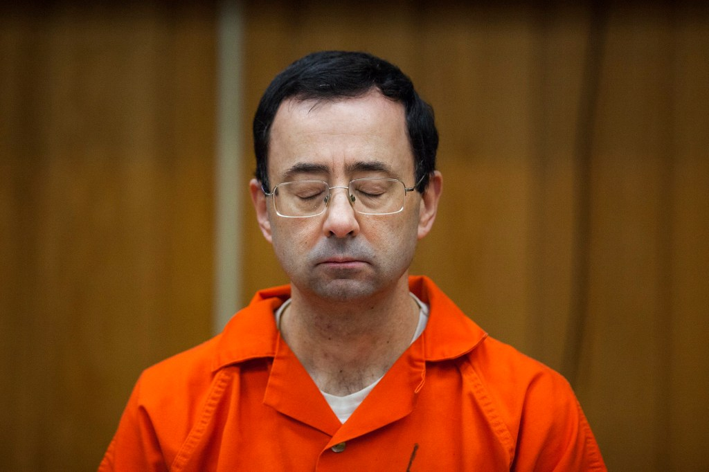 Larry Nassar, former sports doctor who admitted molesting some of the nation's top gymnasts, appears in Eaton County Court in Charlotte, Mich