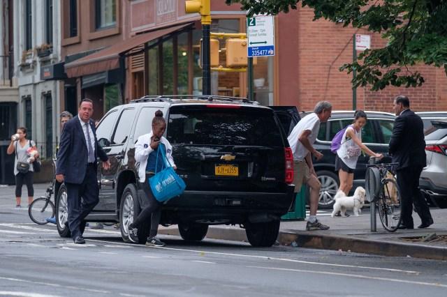 Mayor Bill de Blasio's van.