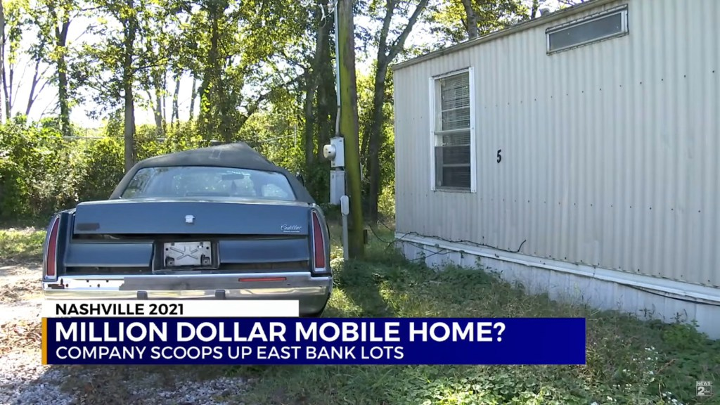 The mobile home is situated on 1.5 acres of land.