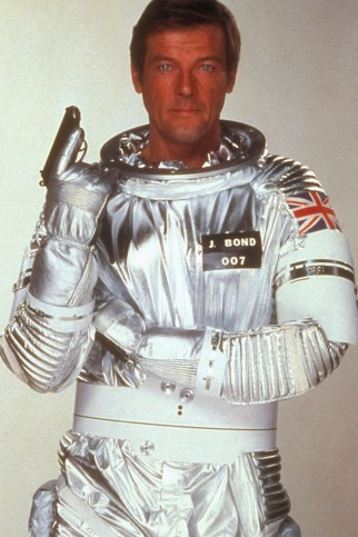 """James Bond heads into outer space in """"Moonraker."""""""