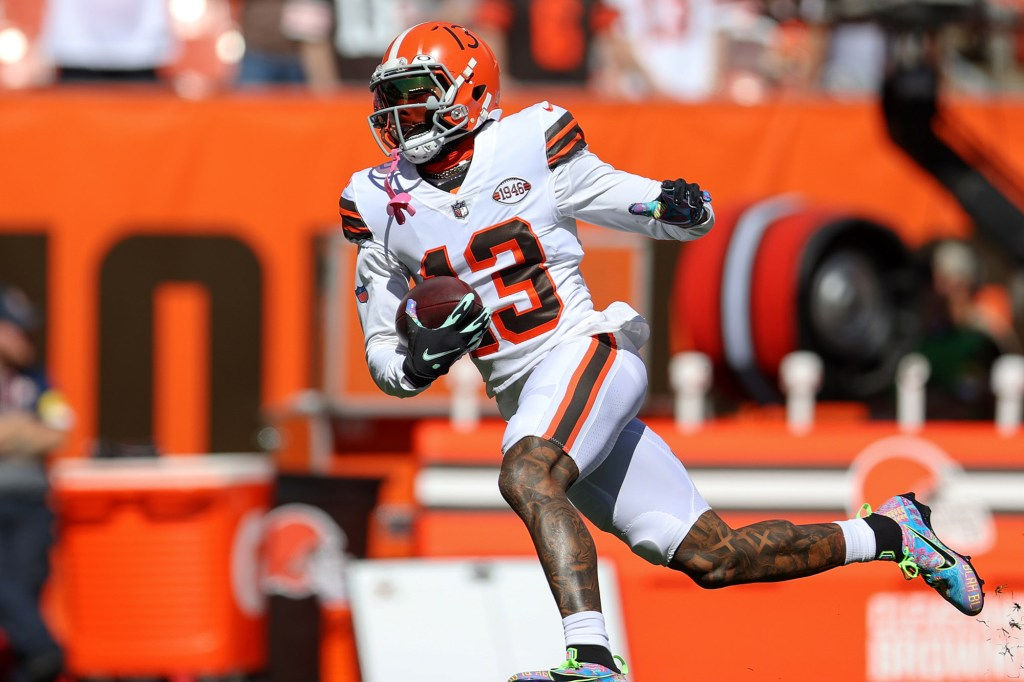 Odell Beckham in action with the Browns