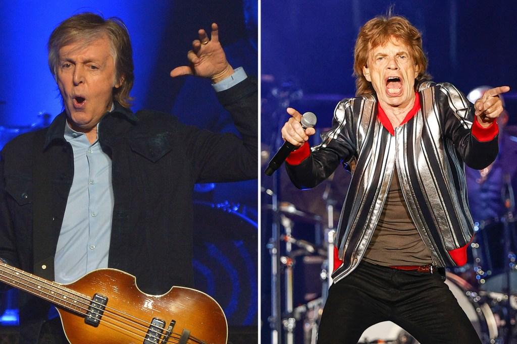 Beatles legend Paul McCartney took a swipe at the Rolling Stones, calling them