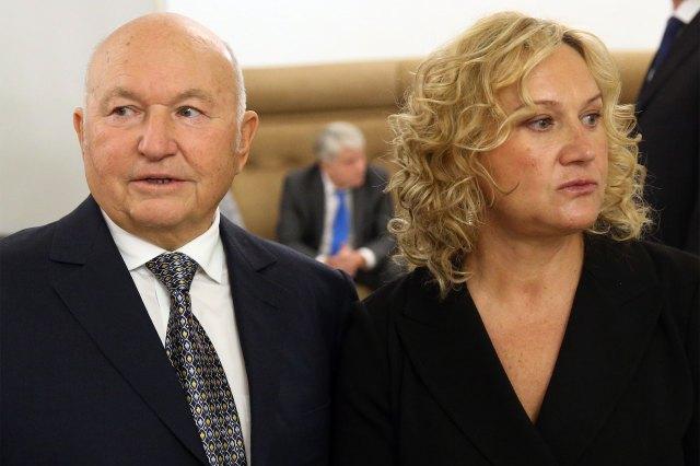 Former Moscow's Mayor Yuri Luzhkov (left) and his wife, businesswoman, billionaire Yelena Baturina (right)