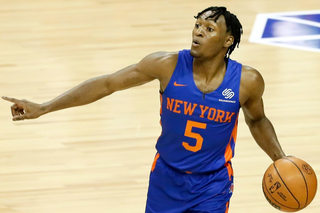 Immanuel Quickley during a Knicks Summer League game on Aug. 11, 2021.