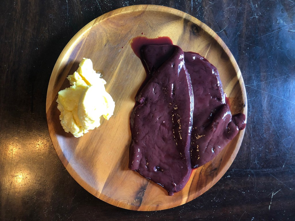 One of Rowe's favorite combos is raw butter and beef liver.