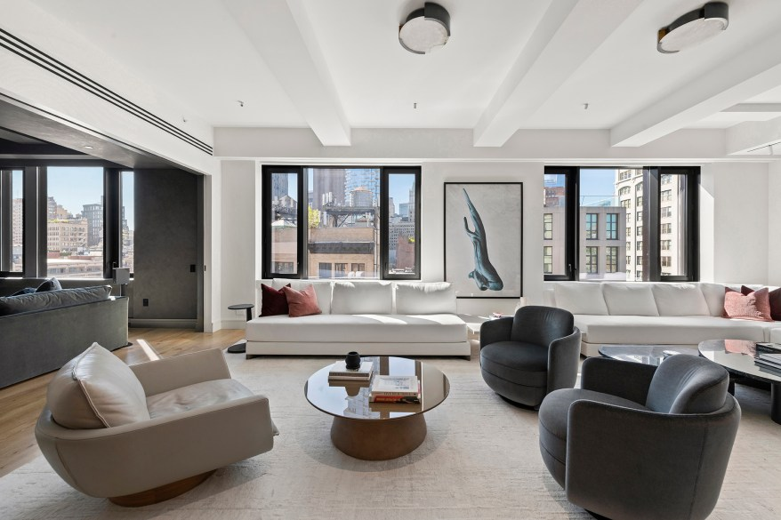 """""""It is very rare to find a brand-new construction, barely lived in place like this in prime Tribeca. It's very unique,"""" listing agent Ryan Serhant told The Post."""
