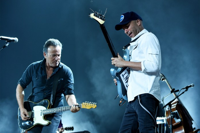 Bruce Springsteen and Tom Morello
