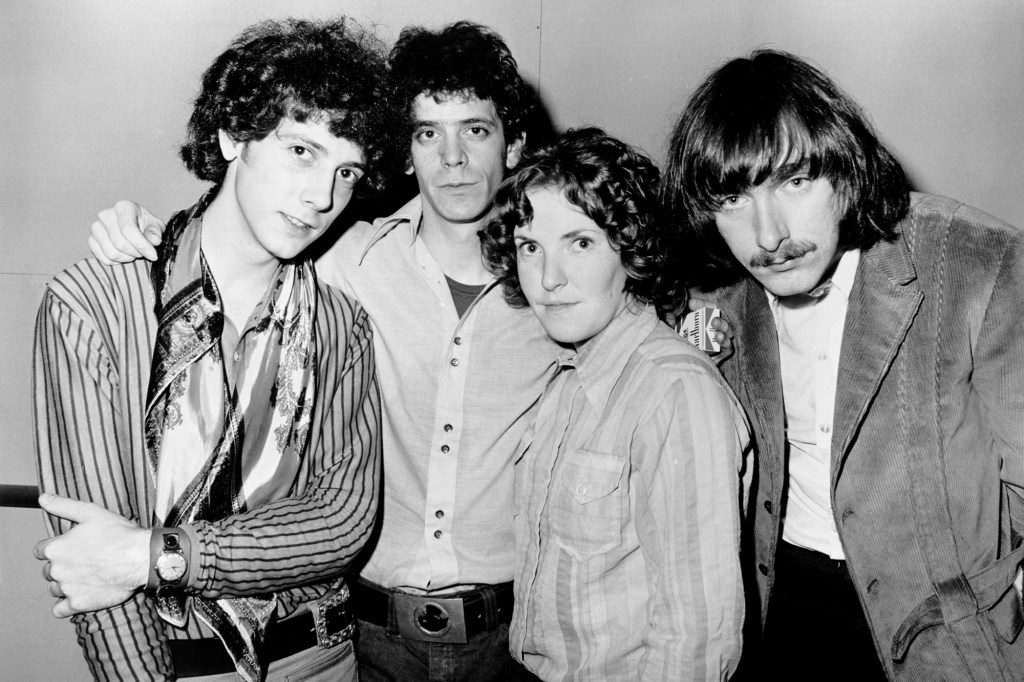The Velvet Underground (Lou Reed, second from left) after Andy Warhol was fired and John Cale was pushed out.