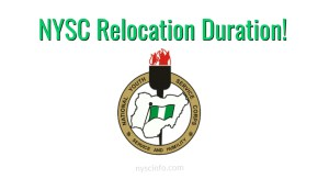 NYSC Relocation Duration