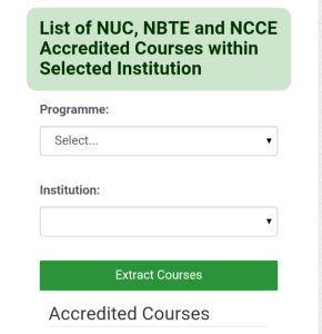 How To Check If Your Institutions And Course Is Accredited For NYSC
