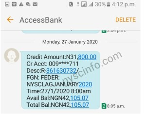 Nysc allowance