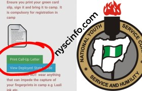 NYSC releases Call-up letter for 2019 Batch B Stream 2