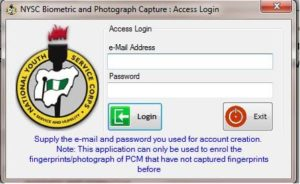 How To Use NYSC Biometric Capture Software