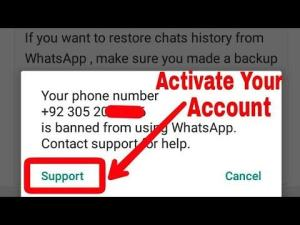 How to unblock WhatsApp banned number
