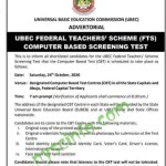 UBEC FTS screening test