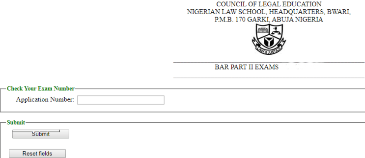 Steps to Check Nigerian Law School Bar Final Exam Number