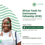 How to Apply for African Youth For Environment Fellowship