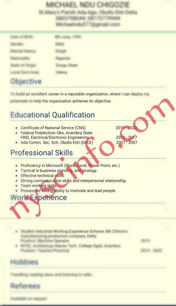 A Sample of Well Written CV (Curriculum Vitae)