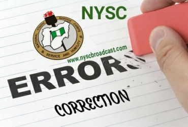 How to Correct Mistakes in NYSC Portal