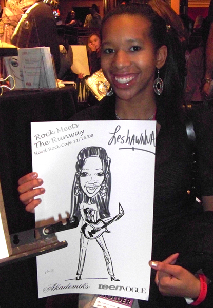 Rock Star Caricature wearing Akademiks Dress