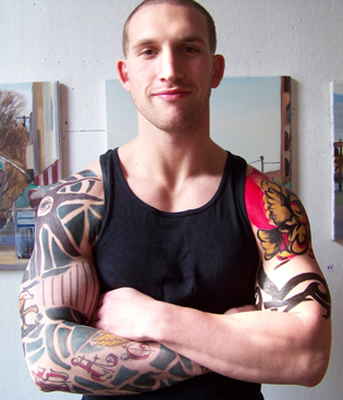 Mike as Vin Deisel in XXX with tattoos
