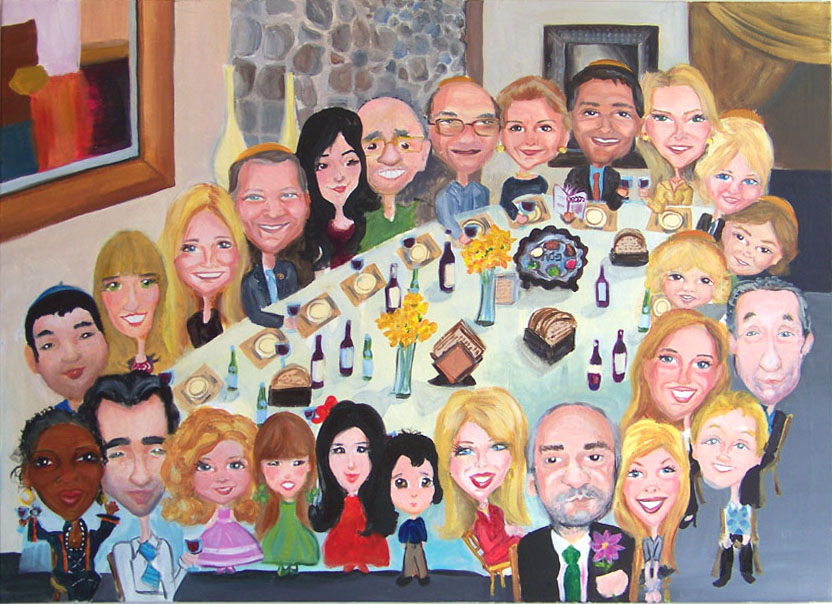 Dinner Party Event Mural