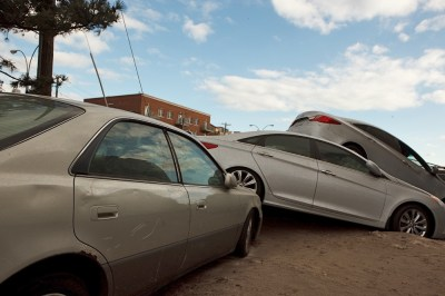 Destruction from Hurricane Sandy