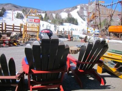 Hunter Mountain spring deck scene