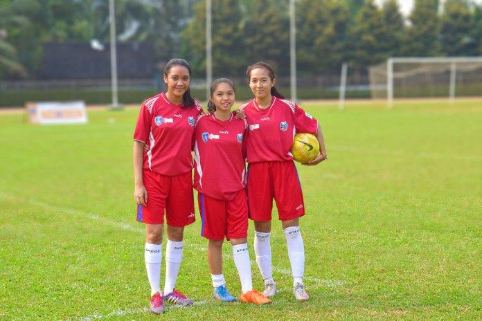 Tokoh putri yang tergabung dalam tim JKT69, (Dari Kiri, Erica, Thalia & Adinda), 21/05/17. (NYSN Media)