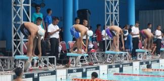 Para peserta Swimming Open 2017 saat sedang berlaga di GOR SOemqantri Brodjonegoro, 5/26/17 (NYSY Media)