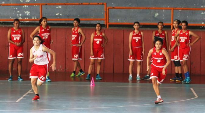 Foto: Bola.com Timnas basket putri