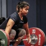Lifter putri Gusti Melinda raih emas test event Asian Games 2018. (liputan6.com)
