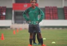 Carla Bio Pattinasarany yang dipinjamkan ke Timnas Putri senior akhirnya bergabung dengan TC Timnas Putri U-16 di Stadion Atang Sutresna, Cijantung, Jakarta Timur.(Pras/NYSN)