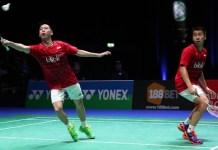 Ganda Indonesia Marcus Fernaldi Gideon/Kevin Sanjaya Sukamuljo melaju ke semifinal All England 2018. (vice.com)