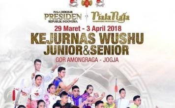 Pada 29 Maret-3 April diadakan Kejurnas Wushu Indonesia Junior & Senior untuk memperebutkan Piala Raja Hamengku Buwono X dan Piala Bergilir Presiden RI di DIY. (Instagram)