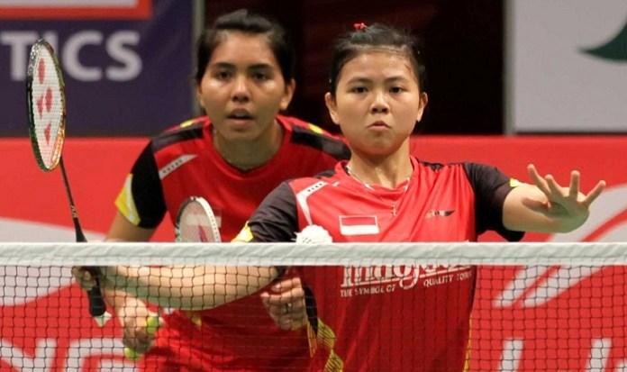 Pasangan Greysia Polii dan Nitya Krishinda Maheswari pernah meraih emas Asian Games 2014 Incheon, Korea Selatan. (badmintonindonesia.org)
