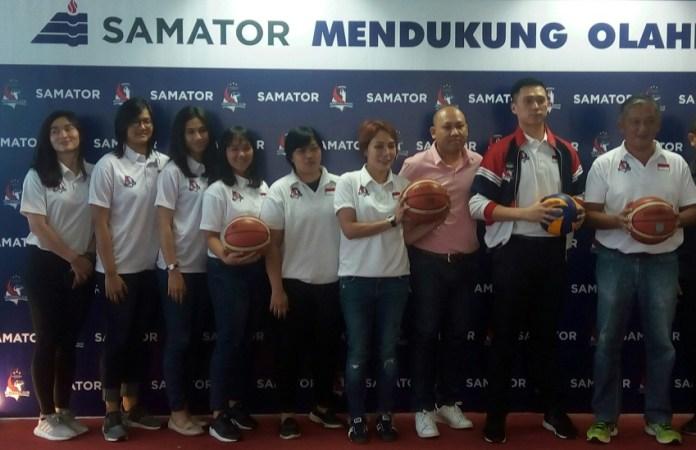 Tim Basket Merah Putih Samator Jakarta siap menatap seri ke-3 Kompetisi Basket Putri Srikandi Cup. (Adt/NYSN)