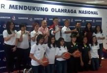 Tim kontestan Srikandi Cup Seri ke-3 saat sesi foto di Gedung UGM Samator, Jakarta Selatan. (Adt/NYSN)