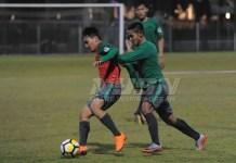 Timnas U-19 sudah mulai berlatih sejak Kamis (22/3) di lapangan ABC, Senayan, jelang laga melawan Timnas U-19 Jepang, pada Minggu (25/3). (Pras/NYSN)