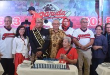 Garuda Baseball-Softball Club merayakan ulang tahun yang ke-25, pada Sabtu (21/4), di kawasan, Senayan, Jakarta. (Ham/NYSN)
