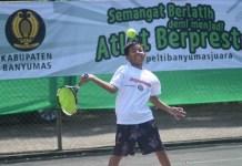 Petenis junior Nasional bersaing di turnamen tenis 'Totalindo Purwokerto Open 2018'. (net)