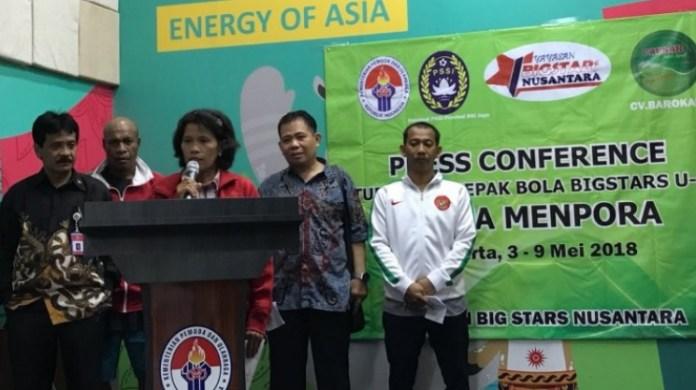 Turnamen sepak bola Big Stars U-16 memperebutkan Piala Menpora, akan berlangsung pada 3-9 Mei, di kawasan Sunter, Jakarta Utara. (suarakarya.id)