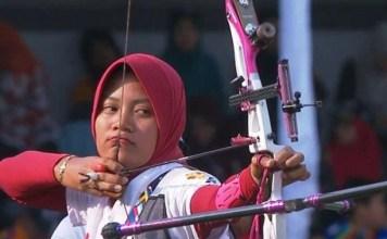 Atlet panahan Diananda Choirunisa bersiap menatap ajang Asian Games 2018 usai tampil di kejuaraan Piala Dunia di Antalya Turki. (bolapsort.com)