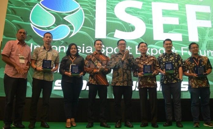 Indonesia Sport Expo & Forum (ISEF) 2018 resmi dibuka oleh Menteri Pemuda dan Olahraga (Menpora), Imam Nahrawi, di ICE, BSD City, pada Rabu (2/5). (Ham/NYSN)