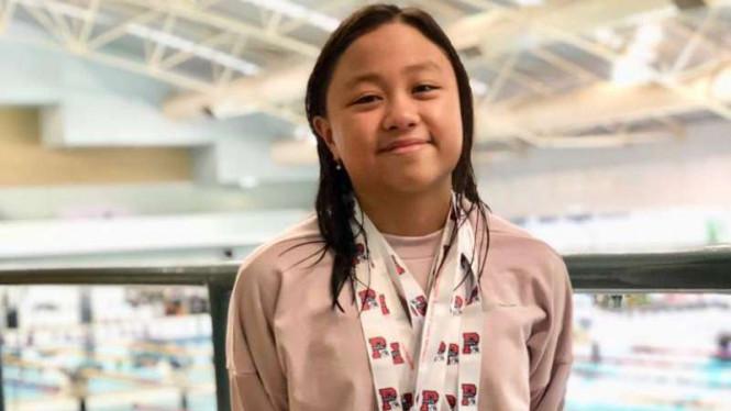 Joanna Nathania Intan (10 th) jadi satu-satunya perenang asal Indonesia yang tampil di Perth City Classics Swimming Championship di Perth, Australia. (viva.co.id)